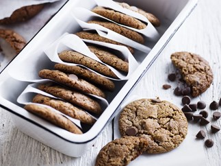 double-choc coconut cookies
