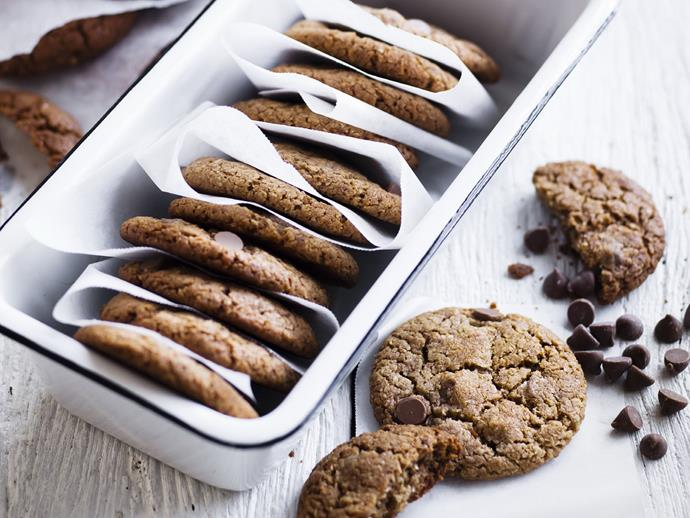 """**[Double-choc coconut cookies](https://www.womensweeklyfood.com.au/recipes/double-choc-coconut-cookies-14317
