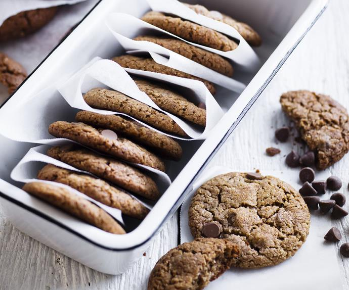 double-choc coconut cookies