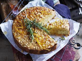 ORANGE, FENNEL & PINENUT CAKE WITH ORANGE SINROSE MARY SYRUP