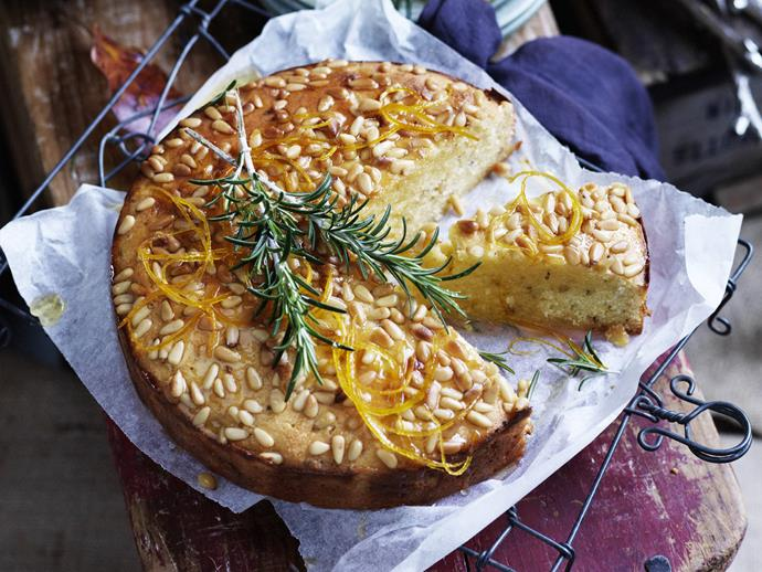 """The combination of [sweet orange cake and fragrant fennel](https://www.womensweeklyfood.com.au/recipes/orange-fennel-and-pinenut-cake-with-orange-sinrose-mary-syrup-5778