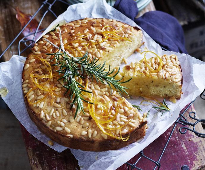 ORANGE, FENNEL & PINENUT CAKE WITH ORANGE SINROSE MARY SYRUP