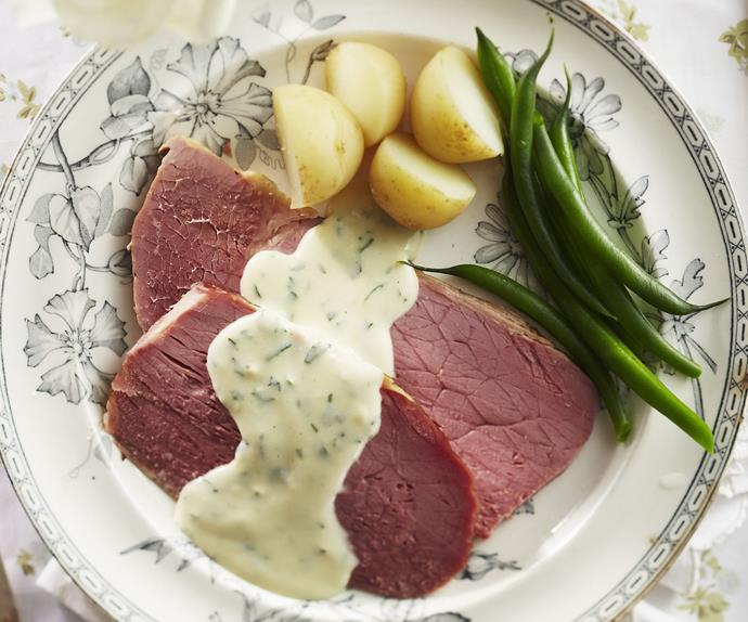 slow-cooker corned beef with horseradish sauce