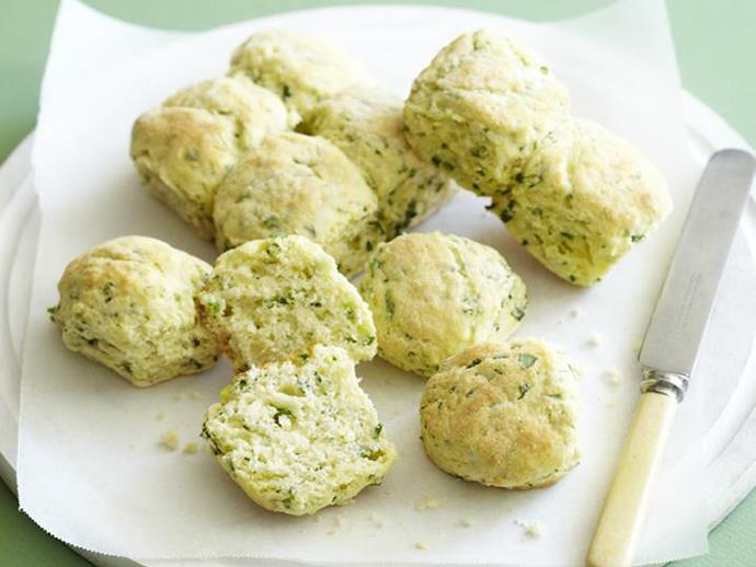 "**[Parsley and chive scones](https://www.womensweeklyfood.com.au/recipes/parsley-and-chive-scones-5804|target=""_blank"")**"