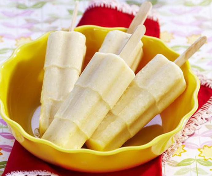 honey & banana ice-blocks