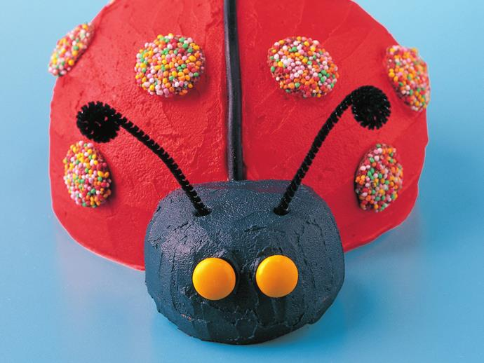 """**[Ladybird birthday cake](http://www.womensweeklyfood.com.au/recipes/ladybird-birthday-cake-15403