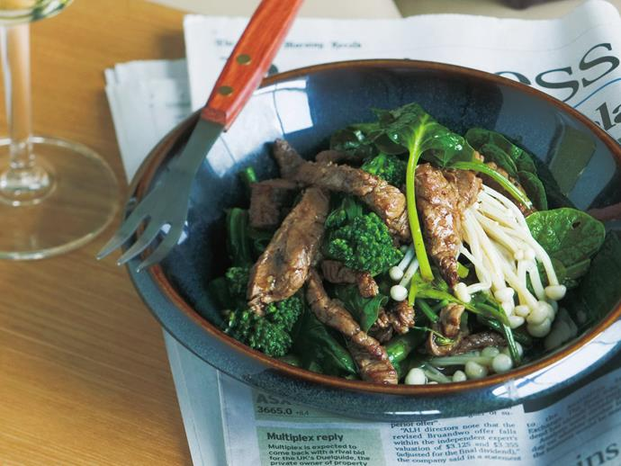 """**[Beef, broccolini and spinach stir-fry](https://www.womensweeklyfood.com.au/recipes/beef-broccolini-and-spinach-stir-fry-13992