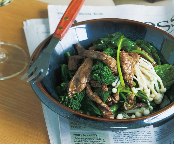 spinach and beef stir-fry