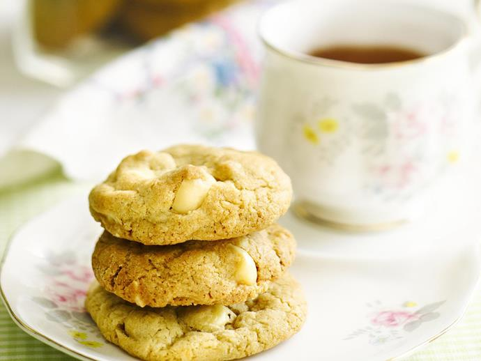"""**[White chocolate macadamia cookies](https://www.womensweeklyfood.com.au/recipes/white-chocolate-macadamia-cookies-14009 target=""""_blank"""")**  The everyday cookie gets a makeover with this recipe by adding a few special ingredients. Turn them into a real decadent treat with macadamia's and white chocolate."""