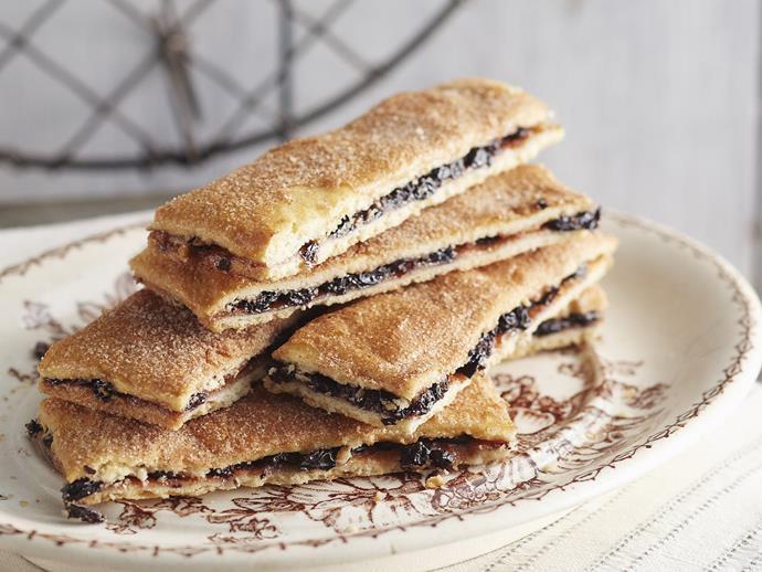 "**[Garibaldi biscuits](https://www.womensweeklyfood.com.au/recipes/garibaldi-biscuits-13352 target=""_blank"")**"