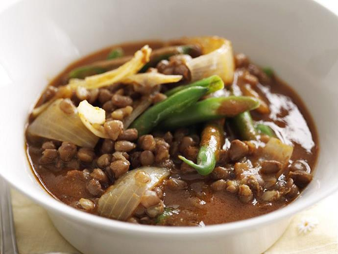 """**[Red curry lentils](https://www.womensweeklyfood.com.au/recipes/red-curry-lentils-5755