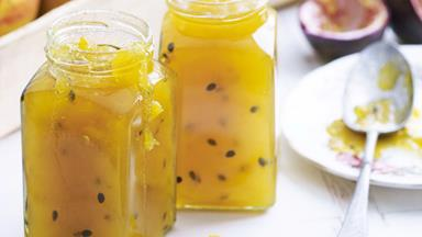 Mango, passionfruit and lime jam