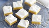 Lemon meringue slice