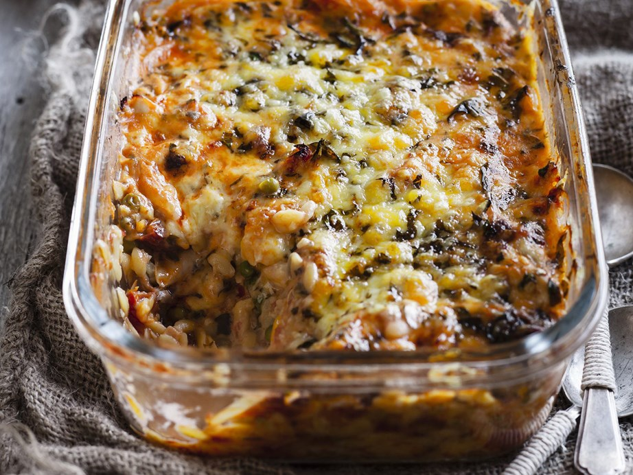 """For something a little different why not try risoni? This rice-shaped pasta does wonderfully in this [chicken and risoni pasta bake.](https://www.womensweeklyfood.com.au/recipes/chicken-and-risoni-pasta-bake-13462 target=""""_blank"""")"""