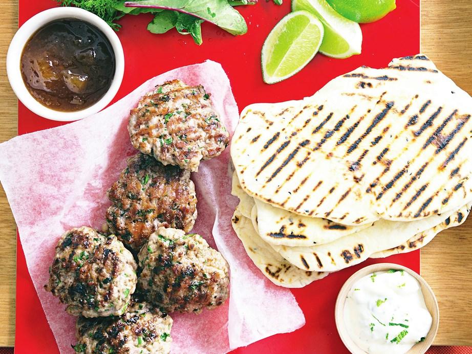 "**[Curried pork rissoles](https://www.womensweeklyfood.com.au/recipes/curried-pork-rissoles-27176|target=""_blank"")**"