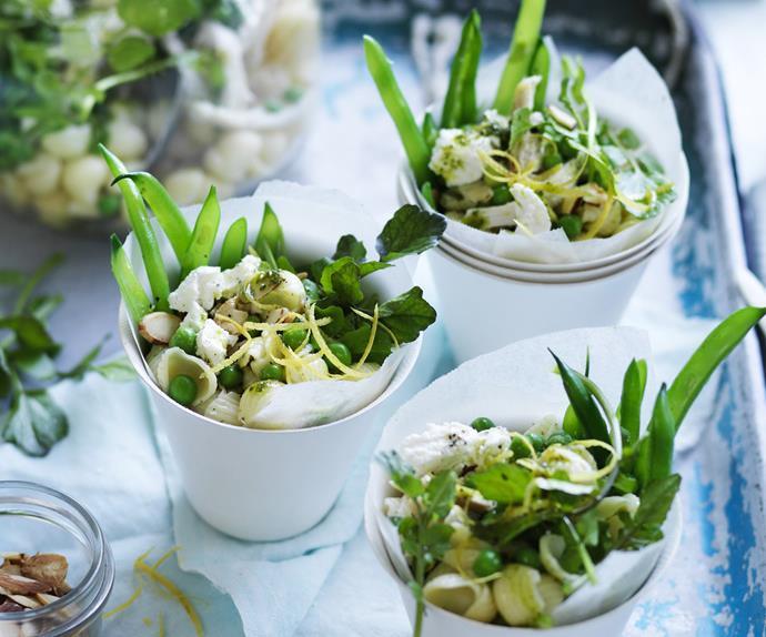 chicken &watercress pasta salad