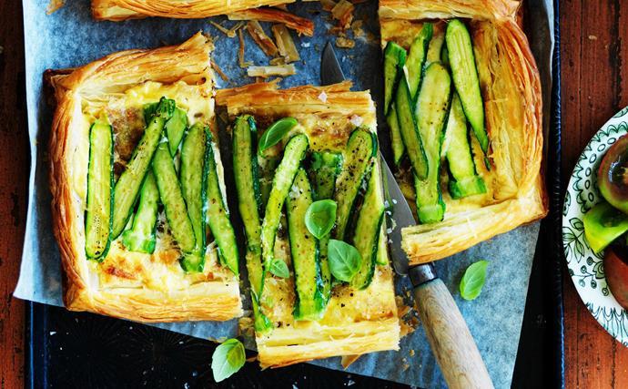 zucchini and mascarpone tarts