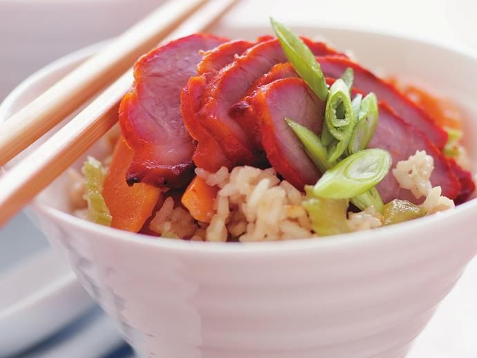 """**[Barbecued pork fried rice](https://www.womensweeklyfood.com.au/recipes/barbecued-pork-fried-rice-13617