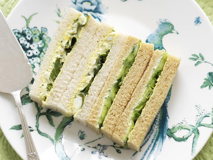 "**[Marinated cucumber sandwich](https://www.womensweeklyfood.com.au/recipes/marinated-cucumber-sandwich-5514|target=""_blank"")**"