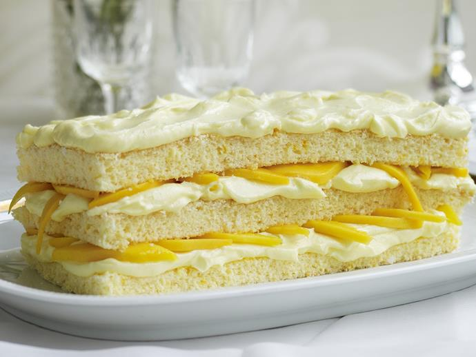 "**[Mango, coconut and mascarpone sponge recipe](https://www.womensweeklyfood.com.au/recipes/mango-coconut-and-mascarpone-sponge-13689|target=""_blank"")**"