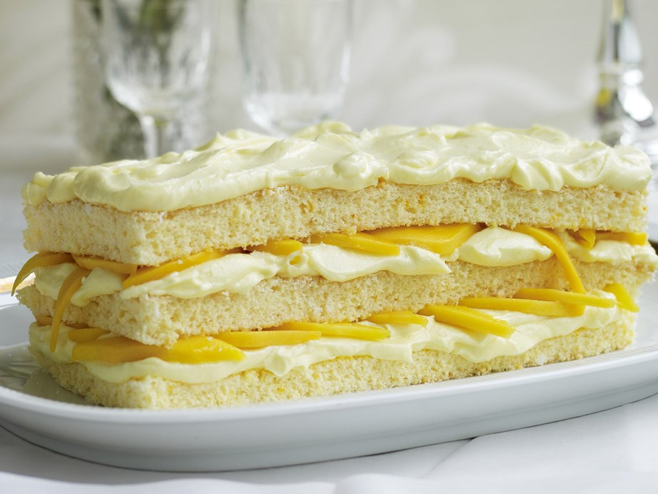 "**[Mango, coconut and mascarpone sponge](https://www.womensweeklyfood.com.au/recipes/mango-coconut-and-mascarpone-sponge-13689|target=""_blank"")** This is a simply luscious cake, with its layers of sponge, mango and coconut mascarpone."