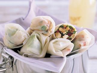 Teriyaki rice paper rolls