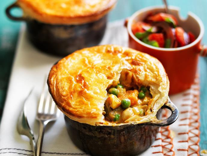 """Easy and tasty [vegetable curry pies](https://www.womensweeklyfood.com.au/recipes/vegie-curry-pies-13234