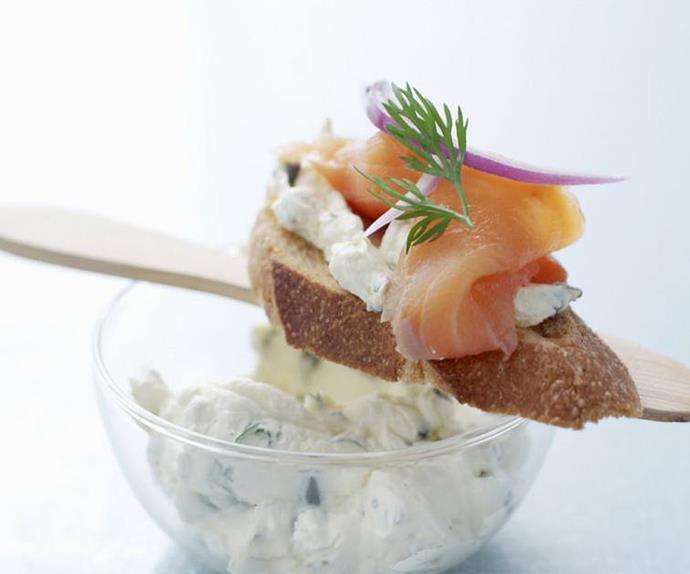 smoked salmon bruschetta