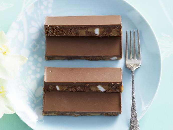 """**[Choc-caramel slice](https://www.womensweeklyfood.com.au/recipes/choc-caramel-slice-13301