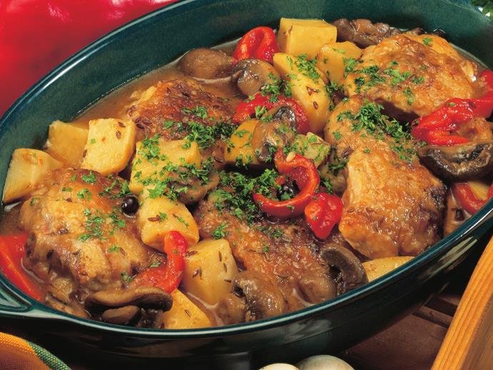 """**[Chicken casserole](https://www.womensweeklyfood.com.au/recipes/chicken-casserole-with-mushrooms-and-celeriac-12712