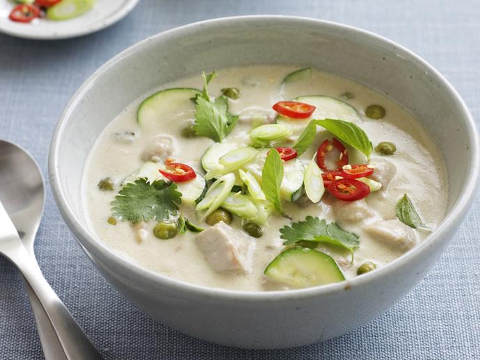 "A quick [green chicken curry](https://www.womensweeklyfood.com.au/recipes/green-chicken-curry-12718|target=""_blank"") that can warm you up on the coldest winter evening."