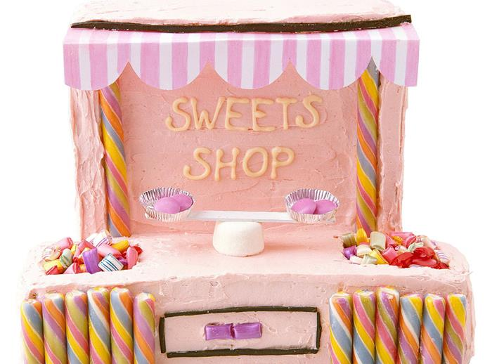 """**[Sweets shop kids' cake](http://www.womensweeklyfood.com.au/recipes/sweets-shop-5457