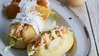 Mini prawn cocktail rolls
