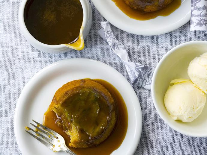 "**[Sticky banana cakes with butterscotch sauce](https://www.womensweeklyfood.com.au/recipes/sticky-banana-cakes-with-butterscotch-sauce-5276 target=""_blank"")**"