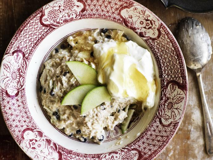 "**[Bircher muesli](https://www.womensweeklyfood.com.au/recipes/bircher-muesli-12877|target=""_blank"")**  Take some of the stress out of your morning routine."