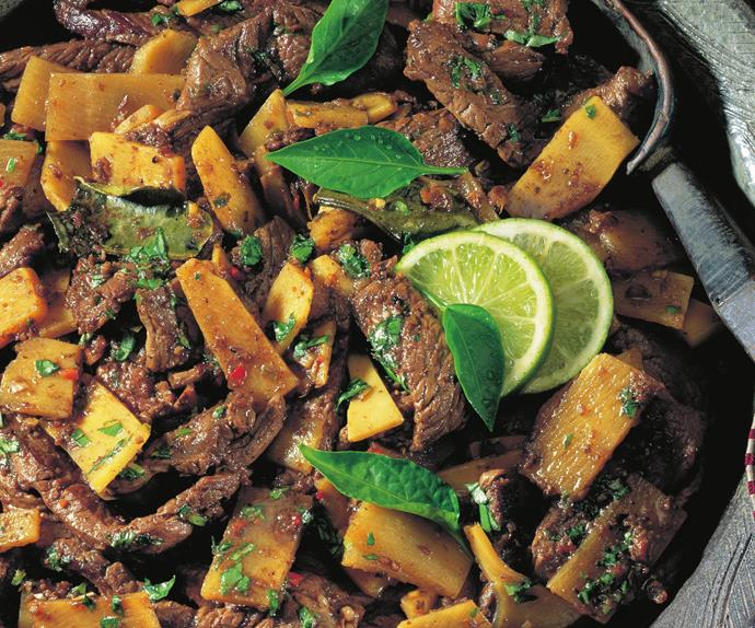 beef curry with bamboo shoots