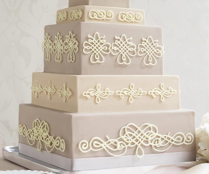 Latte Lace Cake