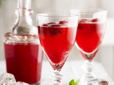 Raspberry and orange cordial
