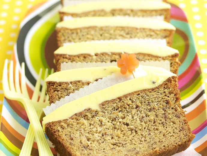 Banana Cake with Passionfruit Frosting
