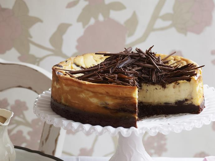 """**[Wickedly rich chocolate butterscotch cheesecake](https://www.womensweeklyfood.com.au/recipes/wickedly-rich-chocolate-butterscotch-cheesecake-12368 target=""""_blank"""")**  The silky texture and luscious chocolate curls make this delectably decadent dessert the ultimate indulgence."""