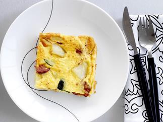 chorizo and roast vegetable frittata