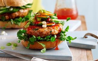 Thai fish burger