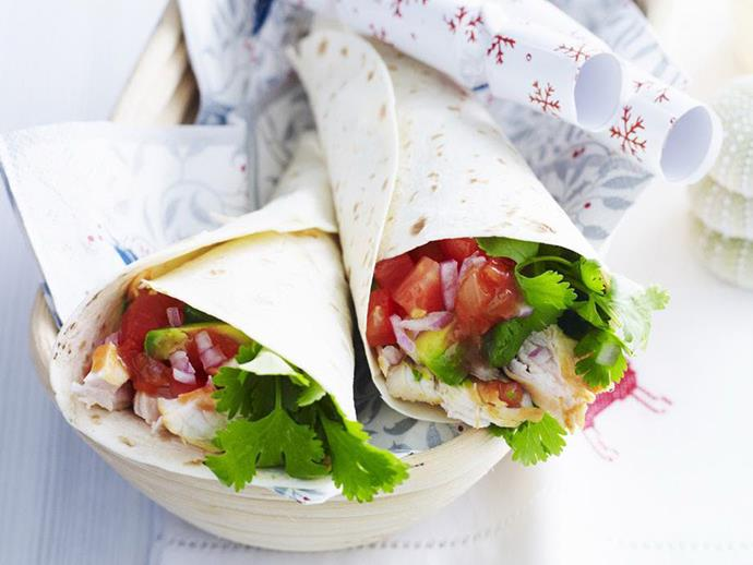 "Light, healthy but totally satisfying, these tasty [chicken wraps](https://www.womensweeklyfood.com.au/recipes/chicken-wraps-12577|target=""_blank"") make a great addition to the work or school lunchbox."