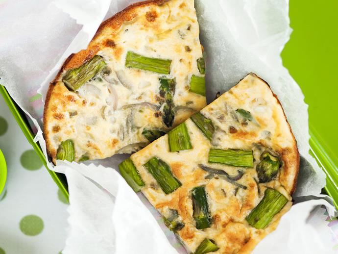 "**[Asparagus frittata](https://www.womensweeklyfood.com.au/recipes/asparagus-frittata-15523|target=""_blank"")**  Make the most of summer asparagus with this easy, quick frittata. You could add a handful of thinly sliced swiss brown mushrooms when you cook the asparagus."