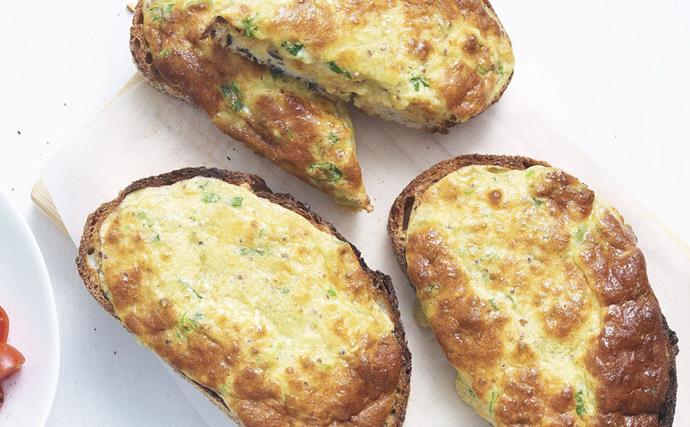 welsh rarebit soufflé toasts