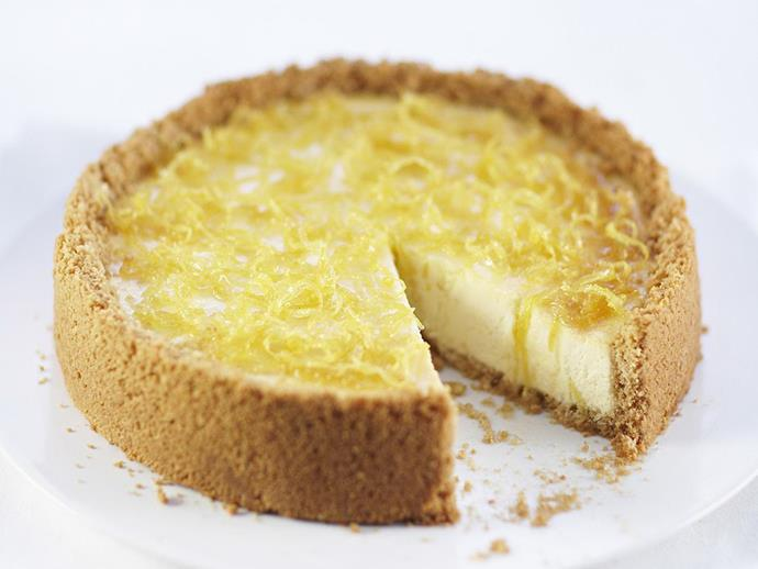 "**[Baked lemon cheesecake](https://www.womensweeklyfood.com.au/recipes/baked-lemon-cheesecake-12639|target=""_blank"")**  This is one of the most loved desserts around the world. Gingernuts are a lovely alternative for the base, and fresh passionfruit pulp or raspberries are delicious served on top."