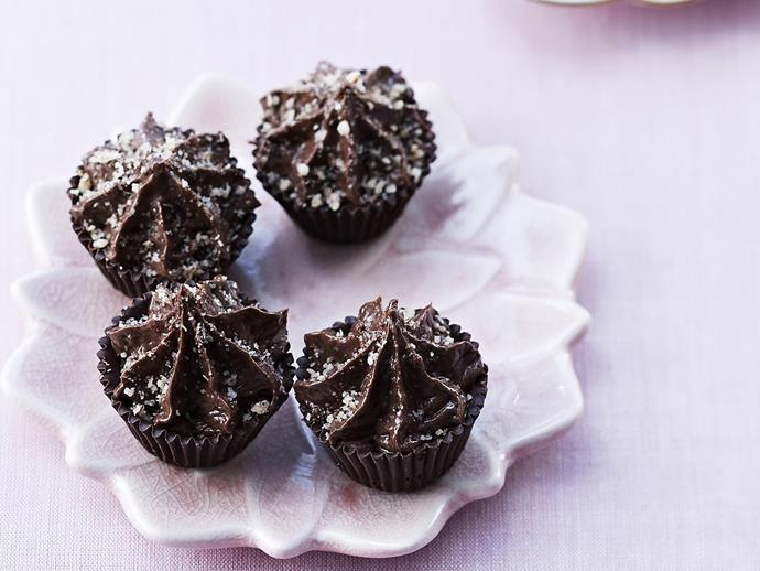 """These divine little bite-sized [chocolate hazelnut cakes](https://www.womensweeklyfood.com.au/recipes/chocolate-hazelnut-cups-12035