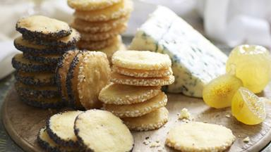 Cheese and seed biscuits