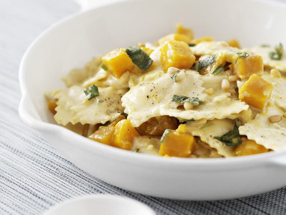 """This [ricotta ravioli with pumpkin and sage sauce recipe](https://www.womensweeklyfood.com.au/recipes/ricotta-ravioli-with-pumpkin-and-sage-sauce-5024