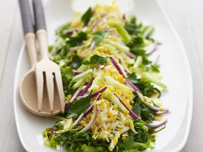 "**[Curried egg salad](https://www.womensweeklyfood.com.au/recipes/curried-egg-salad-12139|target=""_blank"")**"